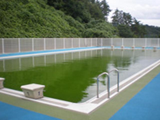 福島県内小学校プールの除染